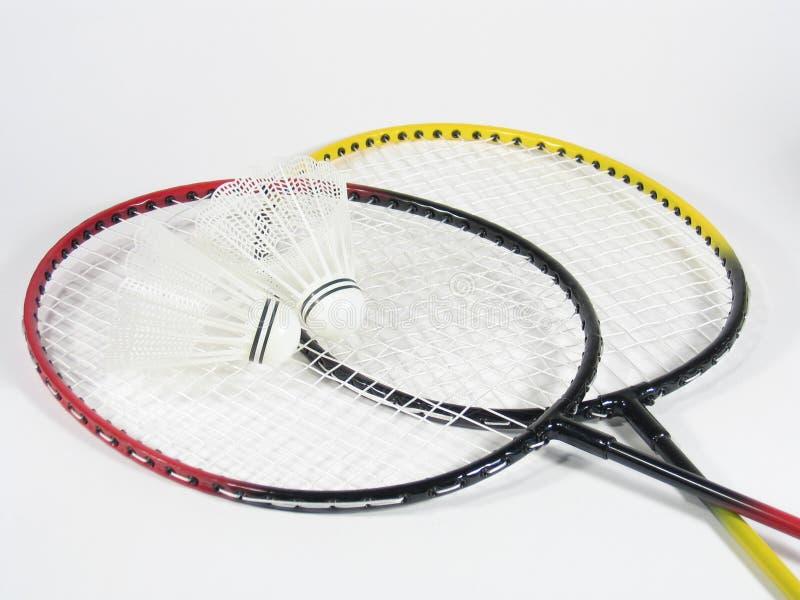 Cross Raquets Badminton Fotografia Stock
