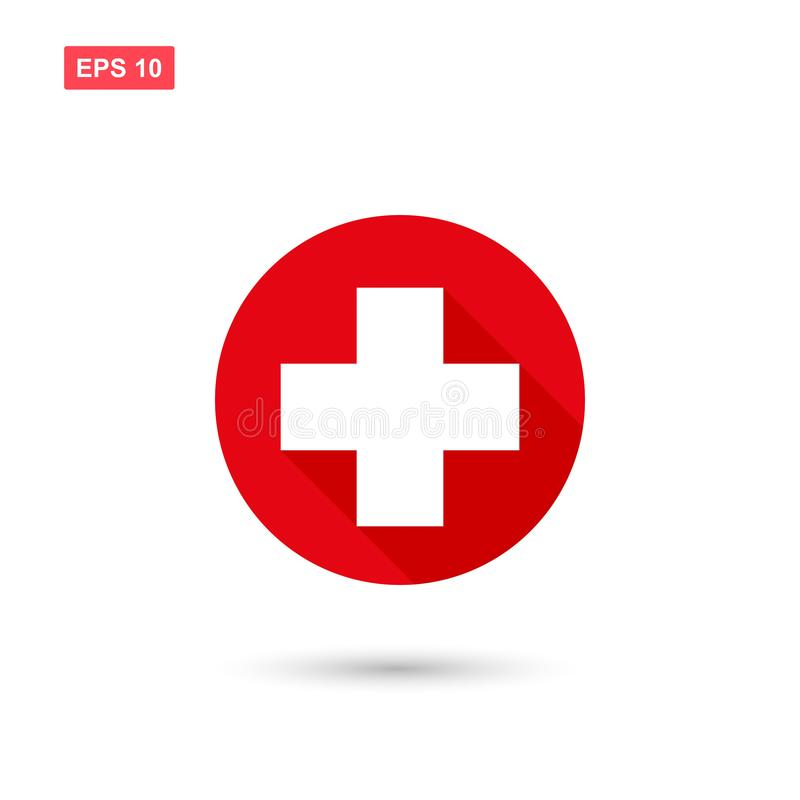 Free Cross Red Hospital Meedical Icon Isolated 1 Royalty Free Stock Images - 133913559