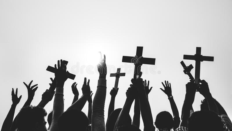 Cross Religion Catholic Christian Community Concept. Cross Religion Catholic Christian Community royalty free stock photography