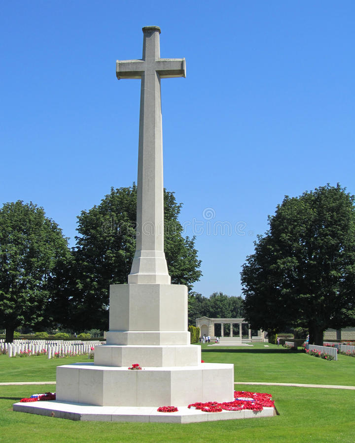 Cross of Sacrifice, Bayeux, France royalty free stock images