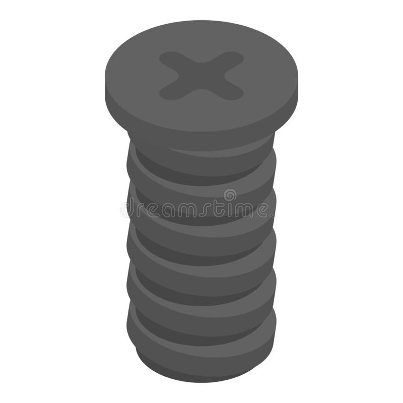 Free Cross Screw-bolt Icon, Isometric Style Stock Photo - 153395720