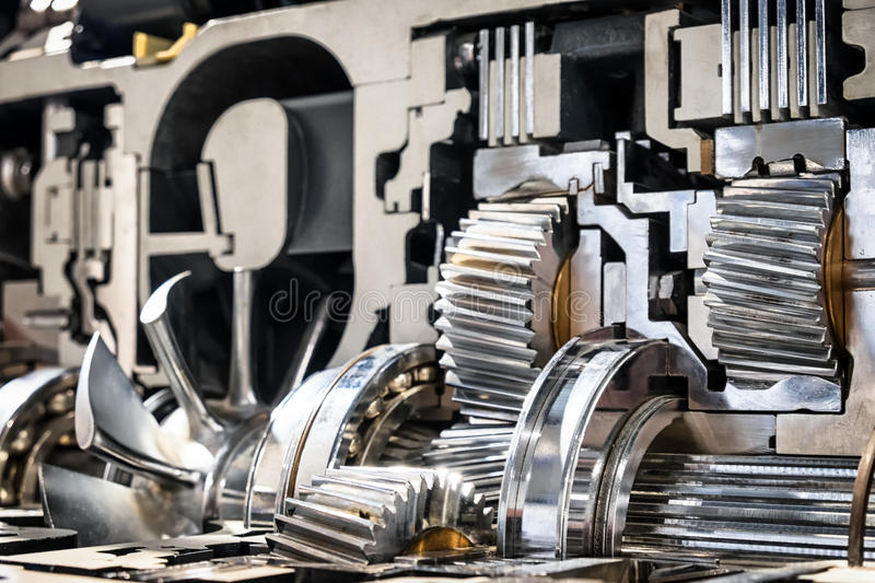 Cross section automatic gear royalty free stock photos