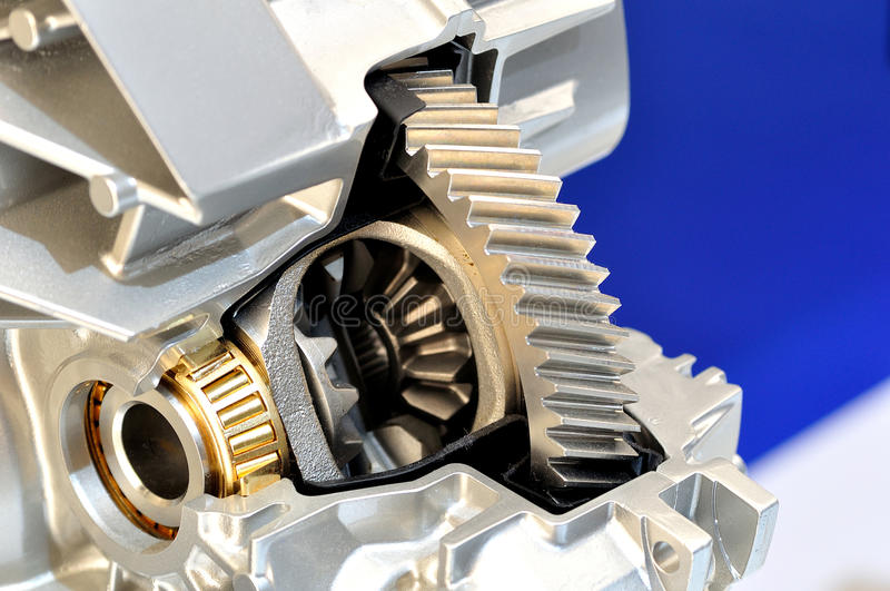 Cross section of a differential. Cross section of a car differential royalty free stock photography