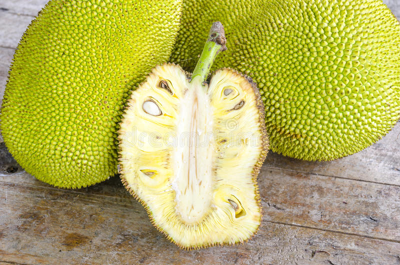 Cross-section of giant Jack-fruit. royalty free stock image