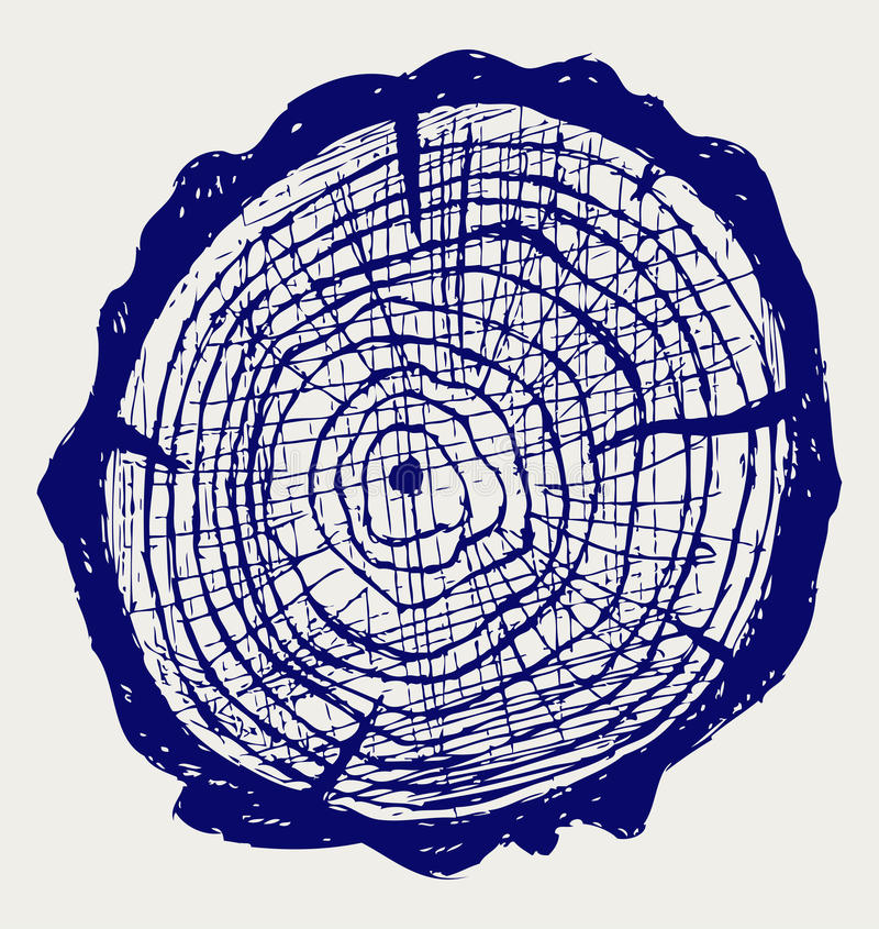 Download Cross Section Of Tree Stump Stock Vector - Image: 26595832