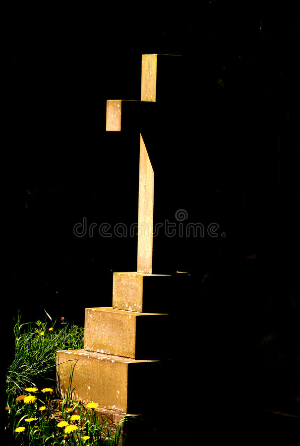 Cross in Shadow stock images