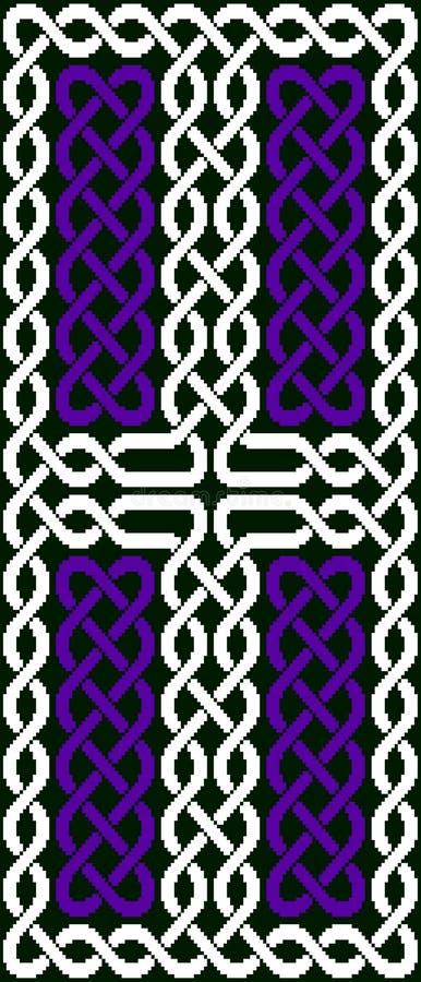 Cross-shaped Celtic knot stock photos