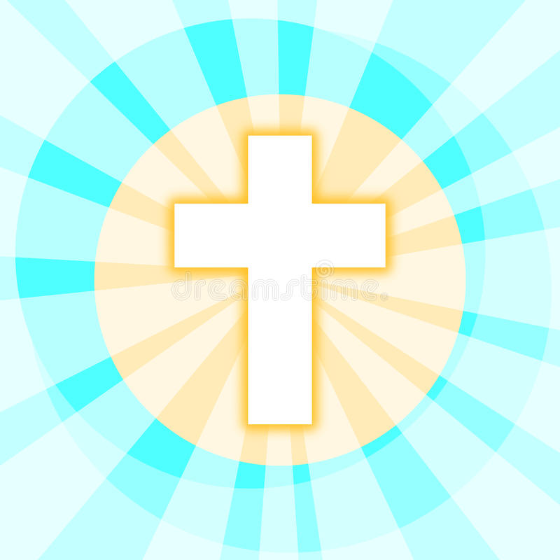 Cross with Shining Rays vector illustration
