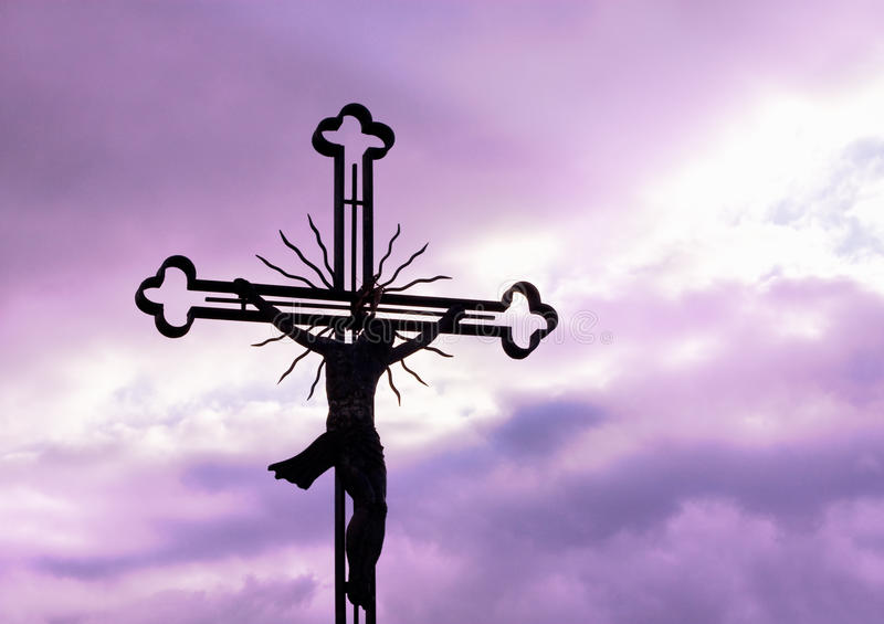 Cross silhouette royalty free stock images