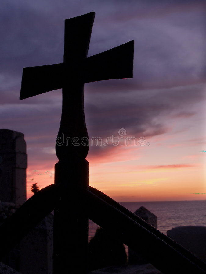 Cross silhouette royalty free stock photo