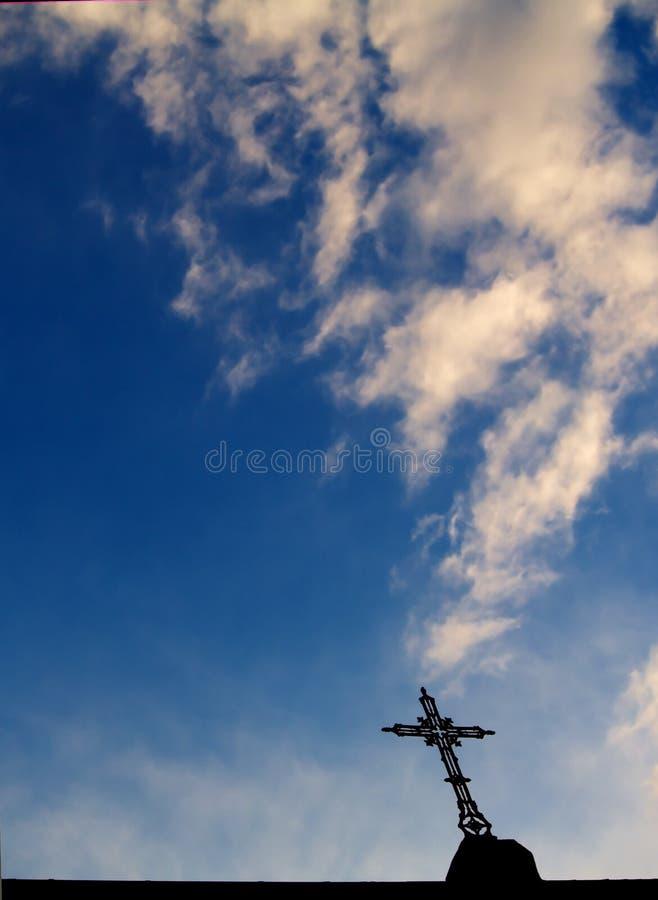 Cross and sky royalty free stock photos