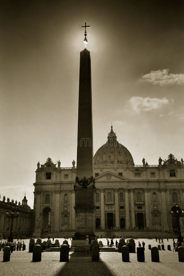 The cross of St. Peter, Rome royalty free stock image