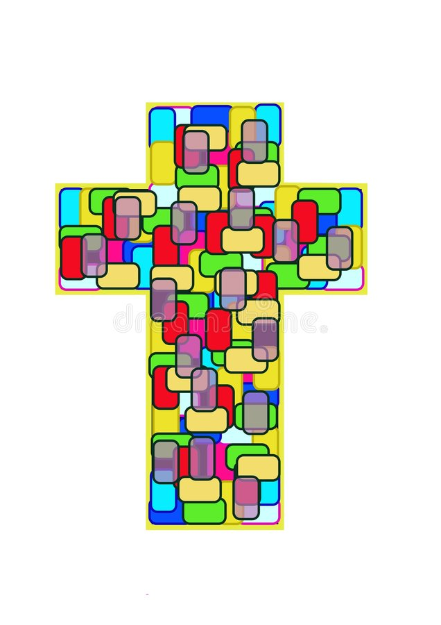 Cross - Stain Glass royalty free stock photos