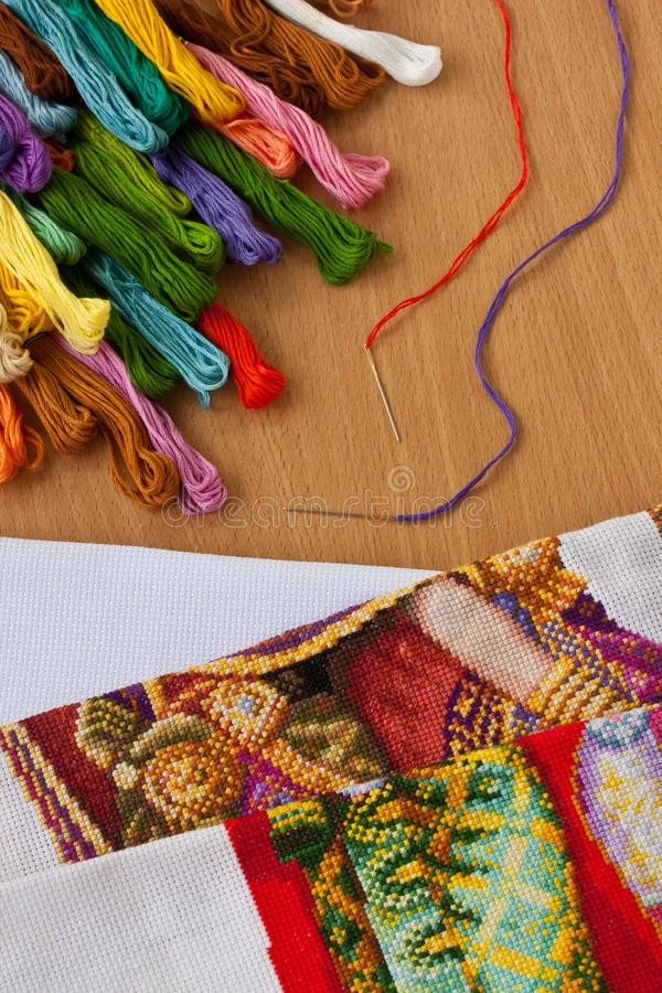 Download Cross-stitch stock image. Image of design, embroidery - 19044989