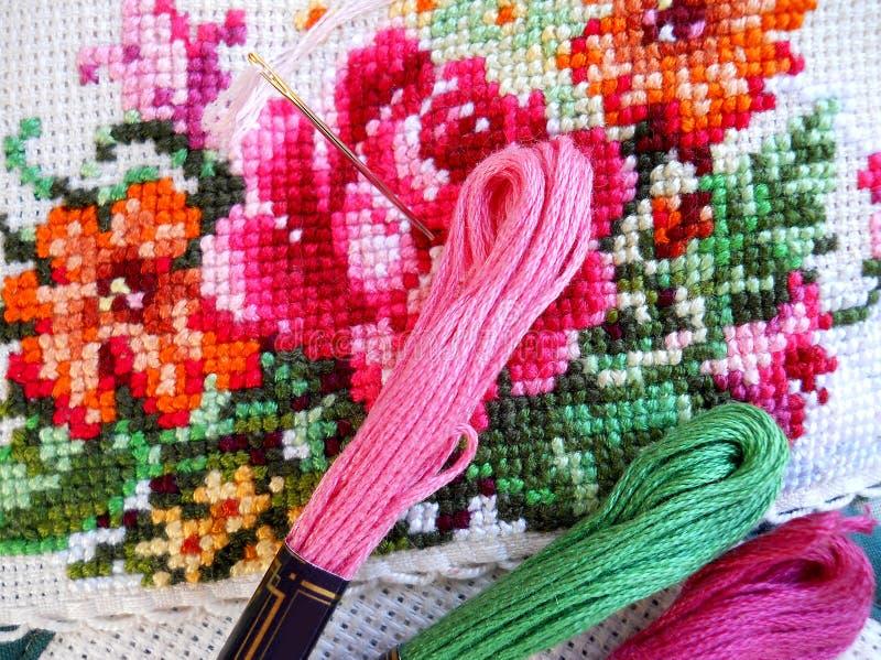Cross Stitch Royalty Free Stock Photos