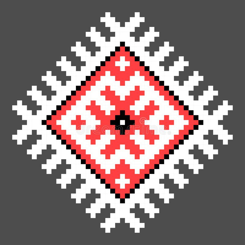 Cool cross stitch element. Isolated ukrainian pattern royalty free illustration