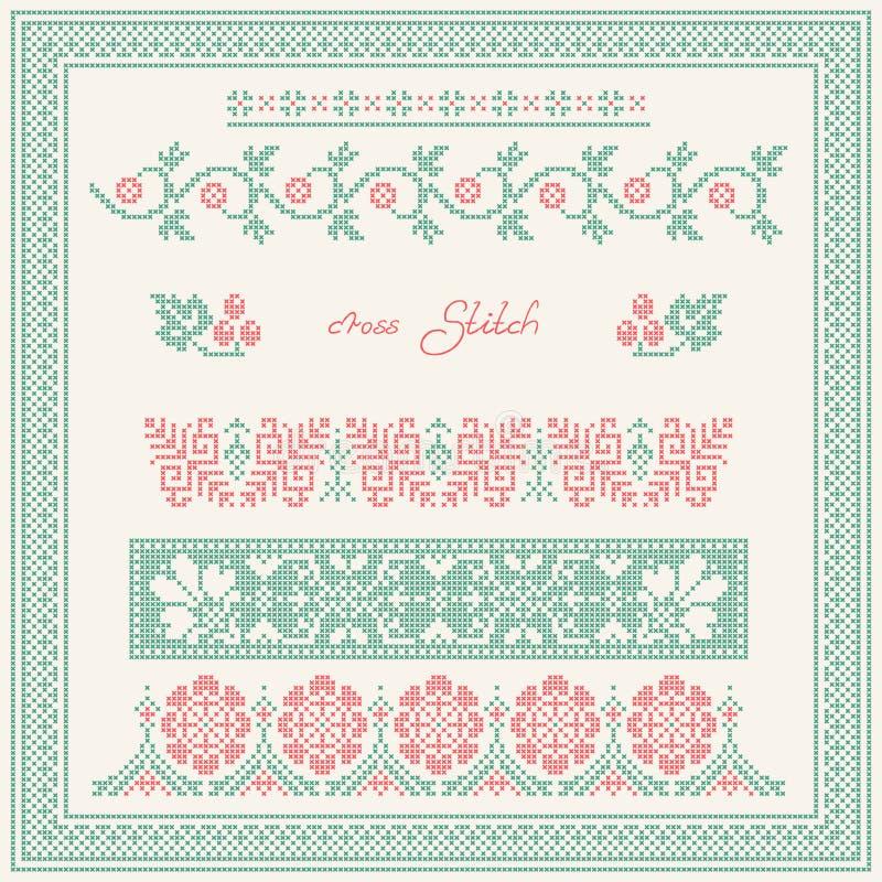 Cross stitch. royalty free illustration