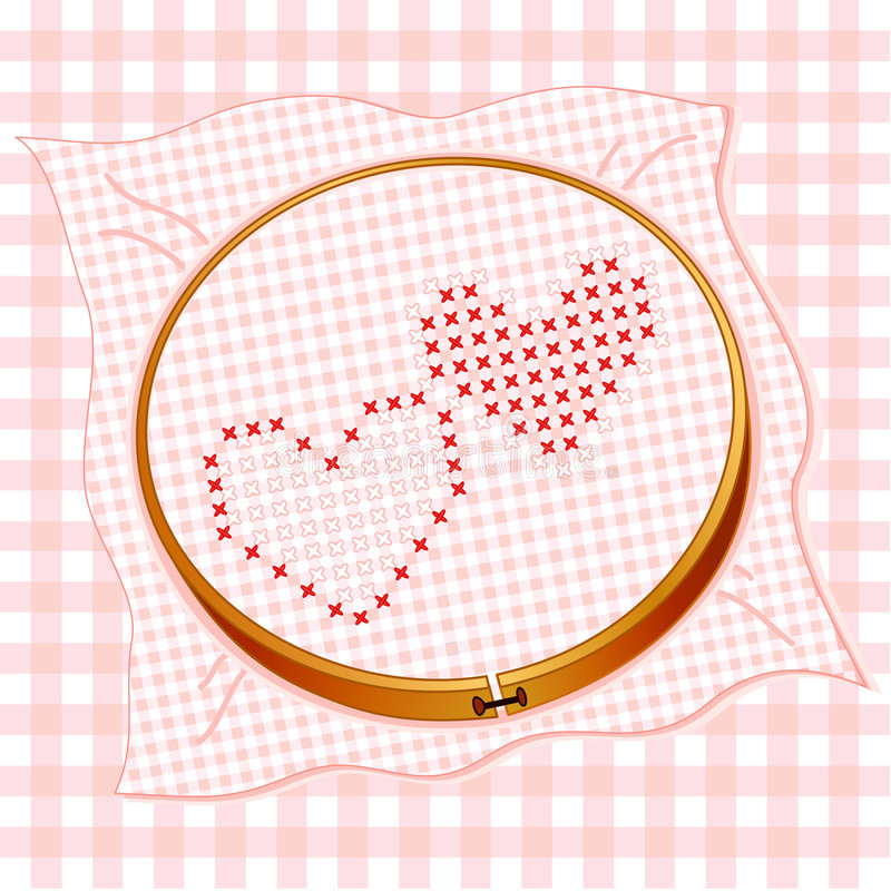 Download Cross Stitch Hearts stock vector. Image of decoration - 5912656