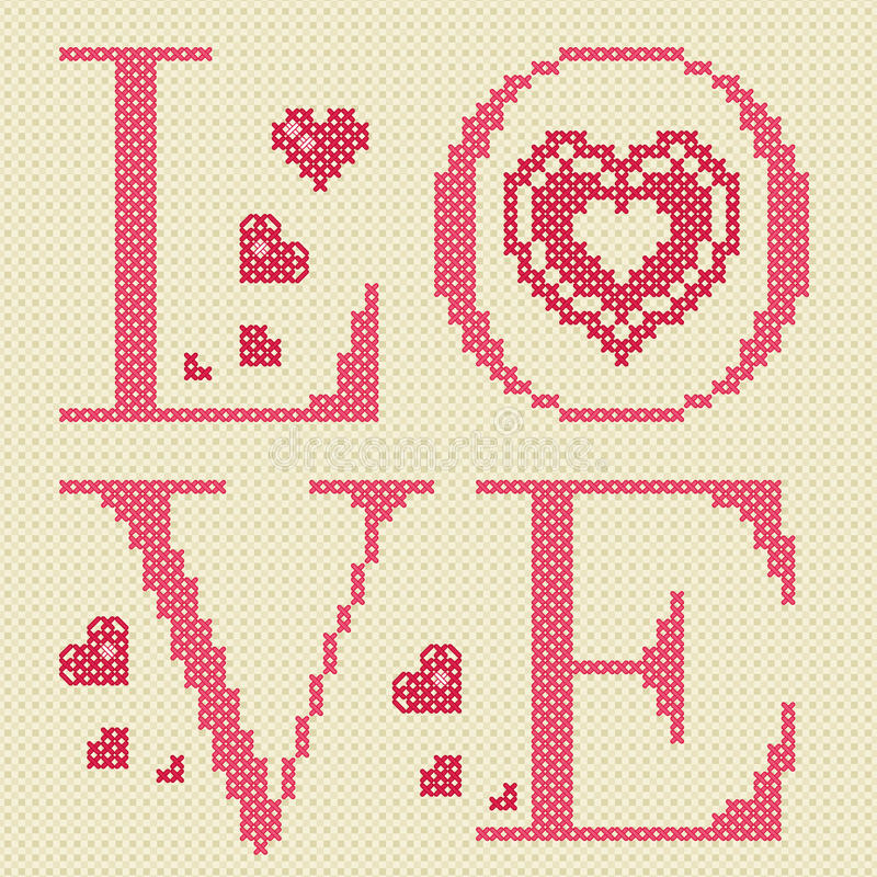 Cross-stitching Embroidery Stock Images