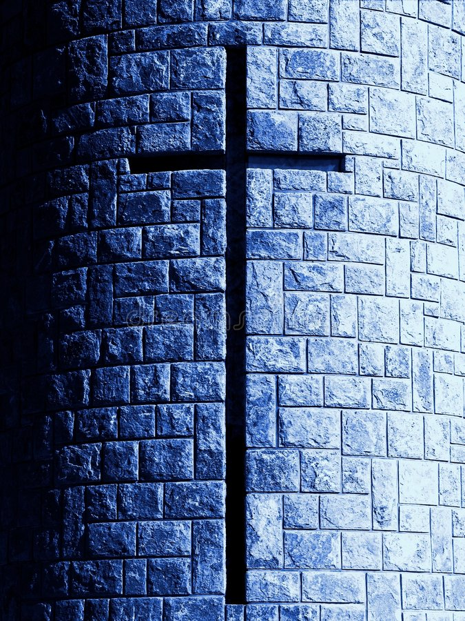 Cross in stone royalty free stock images