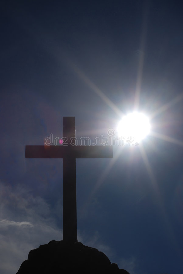 Cross and sun royalty free stock photography
