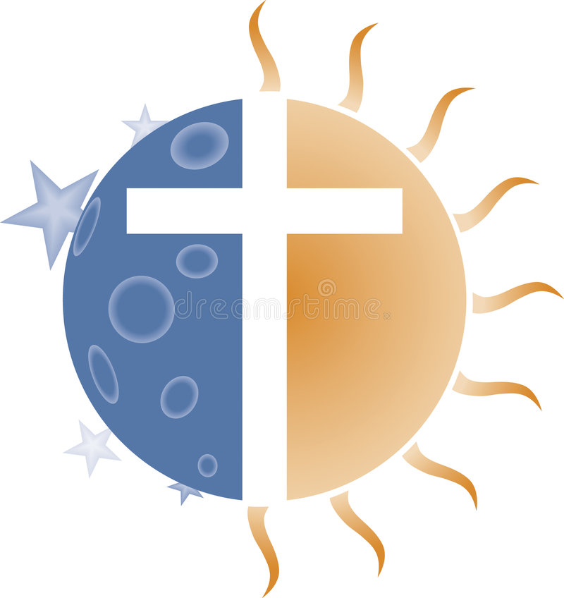 Cross of the Sun and Moon vector illustration