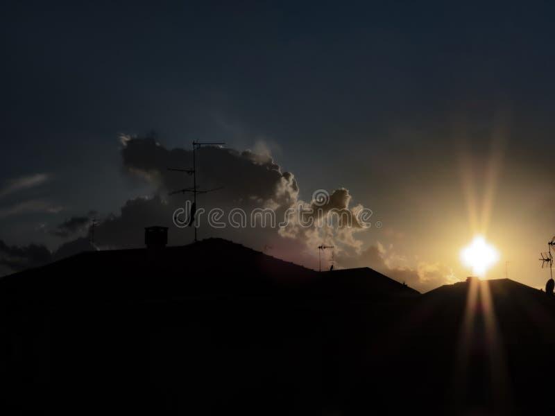 Cross in the sun at sunset stock photos