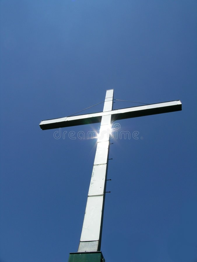 Cross, Sunlit royalty free stock photography