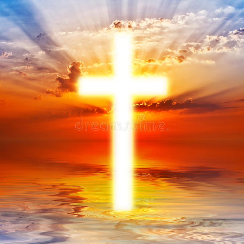 Download Cross on sunrise sky stock photo. Image of holy, christianity - 27531492