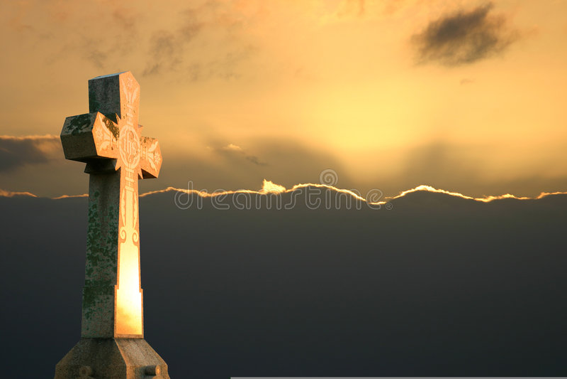 Cross Sunset royalty free stock photos