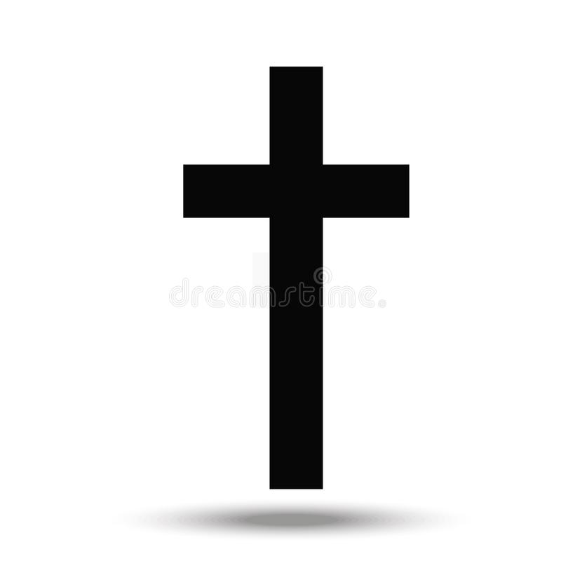 The cross - a symbol of the Christian religion royalty free illustration