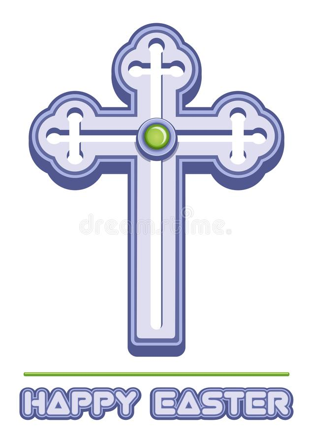 Cross is a symbol of Christianity royalty free illustration