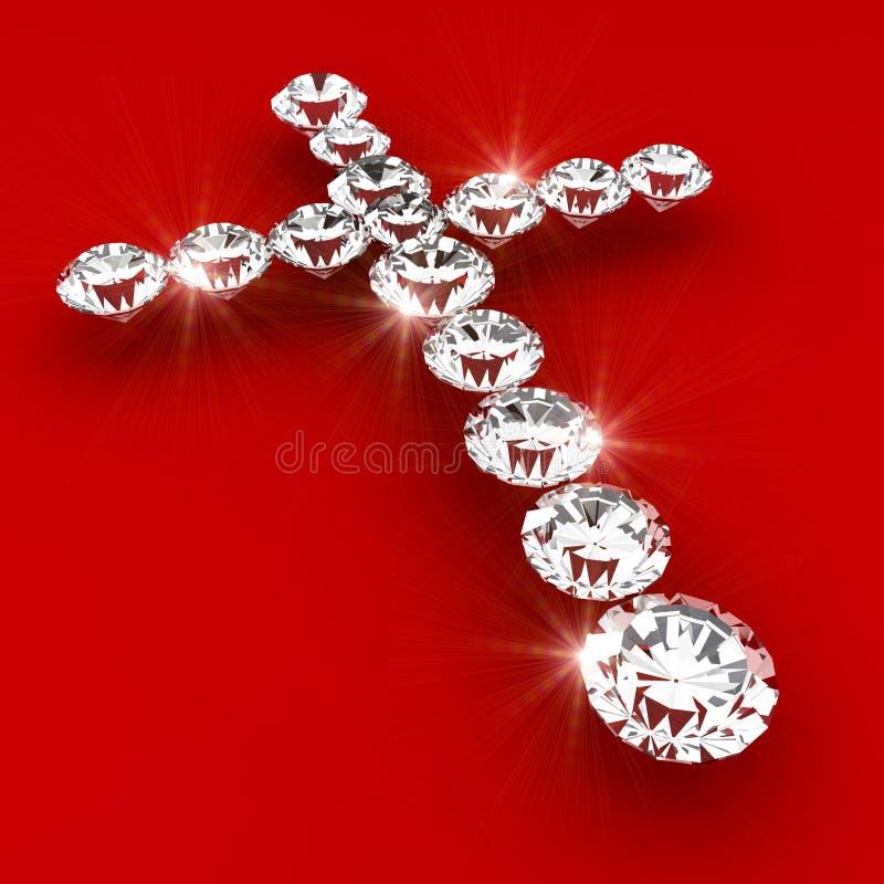 Download Cross Symbol Shape Diamond Art Illustration Royalty Free Stock Photos - Image: 10972338