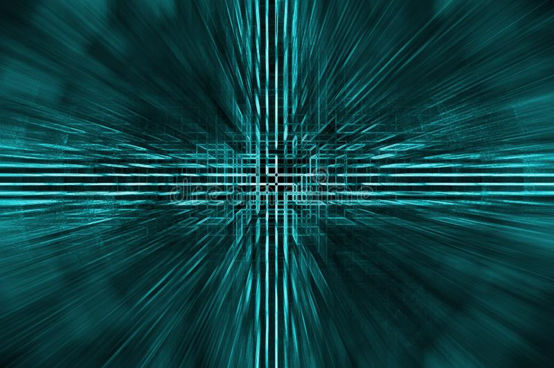 Cross of technologies background stock photo