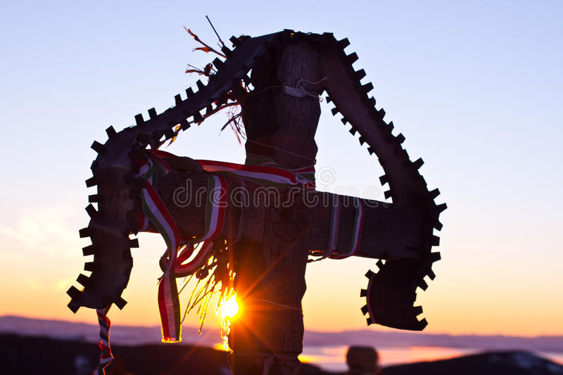 Download Cross On Top Of The Madarasi Hargita Stock Photo - Image: 17801998