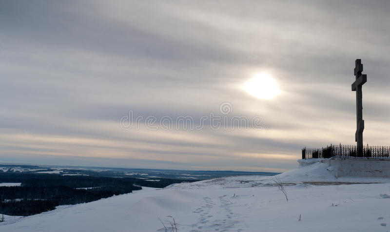 Download The Cross On Top Of The Mountain Stock Image - Image: 13278103