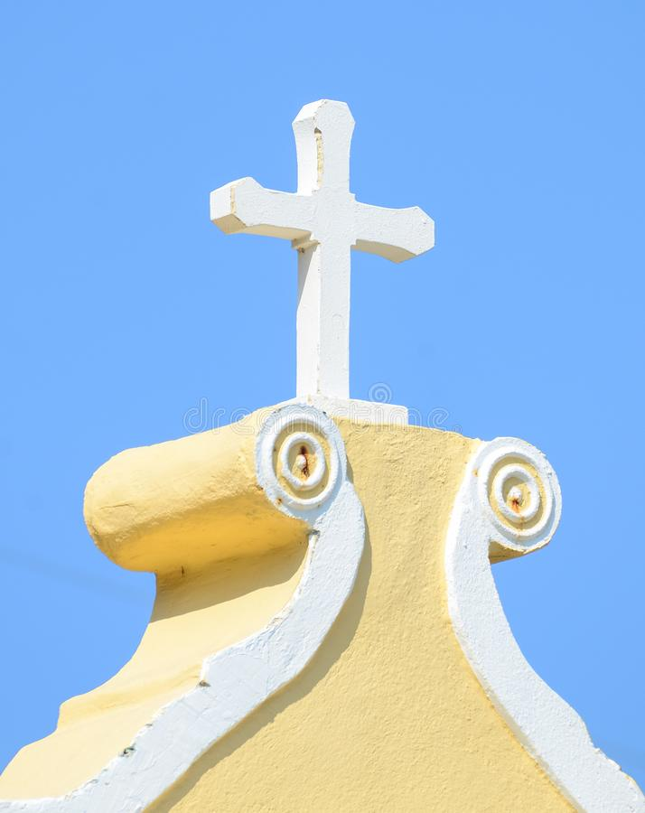 Cross on the top of old church royalty free stock images