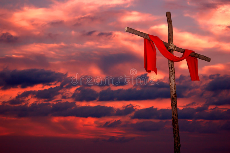 Download Cross And Tunic On A Sunset Stock Photo - Image: 1200650