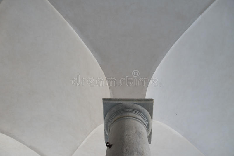 Cross vaults and column royalty free stock image