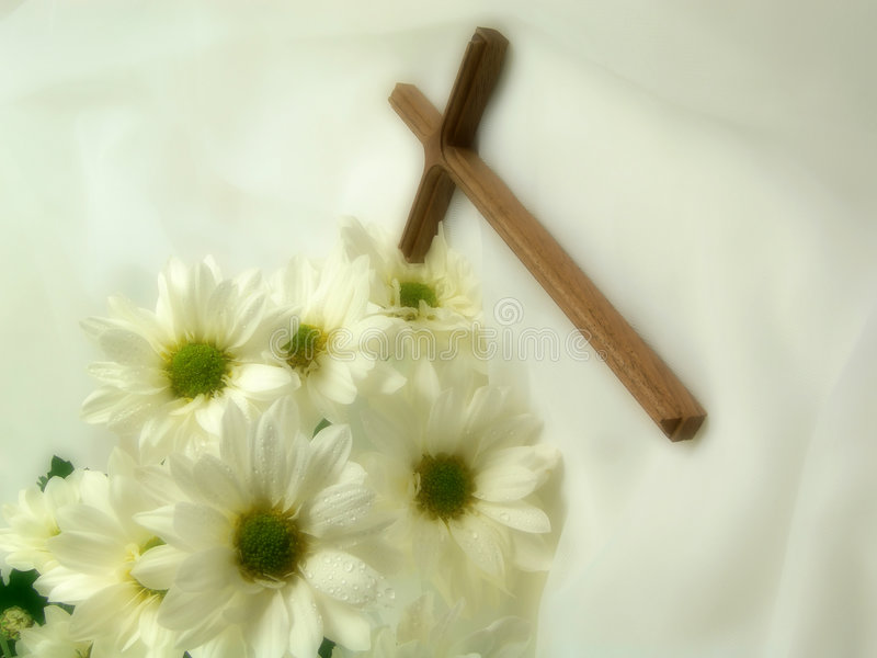 Cross on veil royalty free stock photo