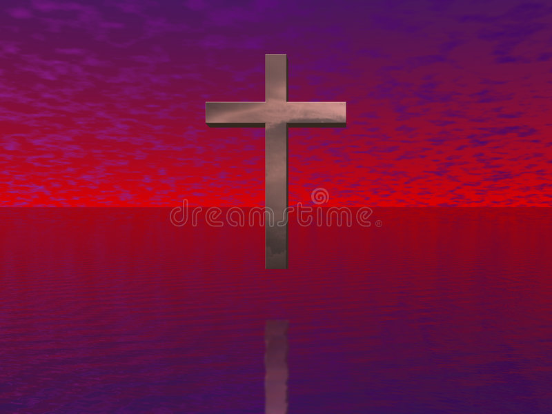 Download Cross Vision stock illustration. Image of rapture, christianity - 2309333