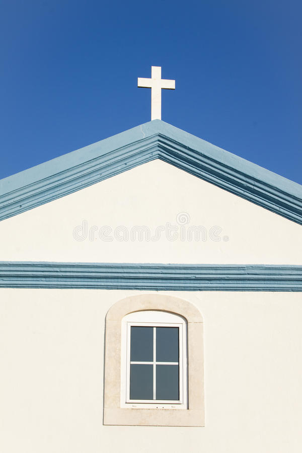 Cross , window stock photography