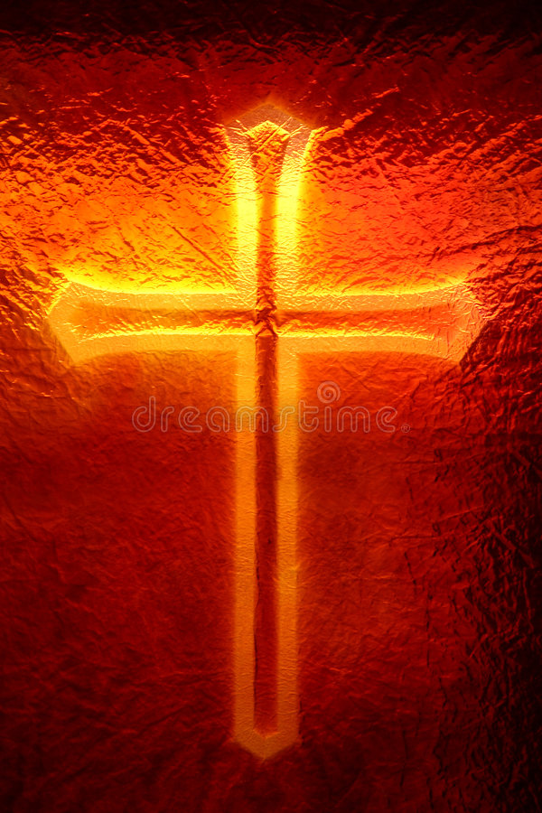Cross in the Window royalty free stock photography