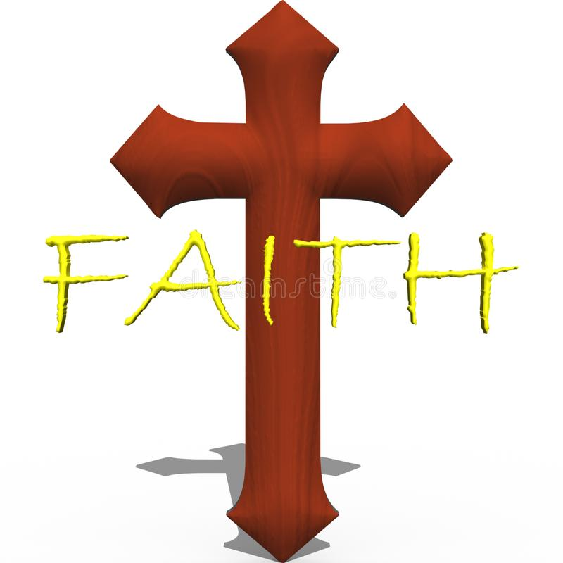 Cross with word faith stock illustration