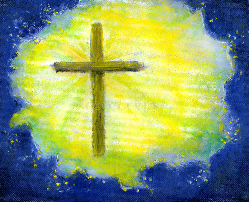 Download Cross In Yellow And Blue Royalty Free Stock Photos - Image: 88948