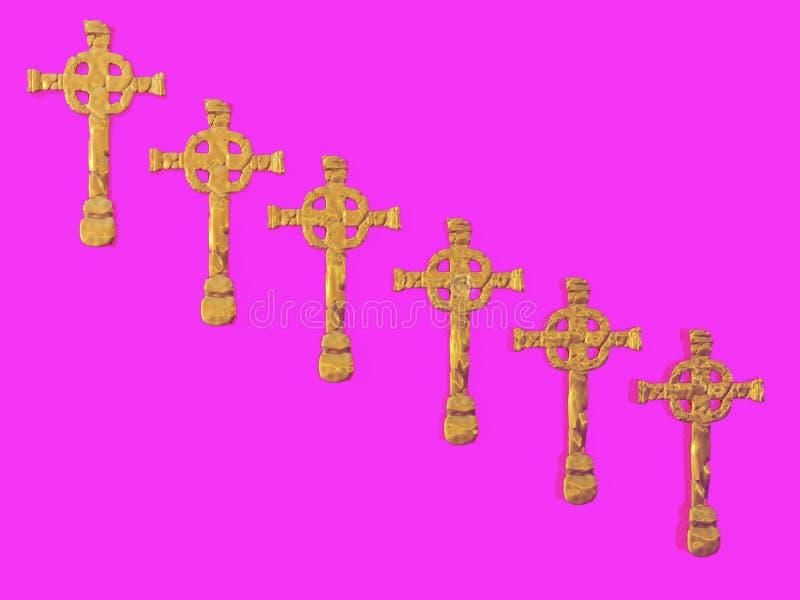 cross złoto obrazy royalty free