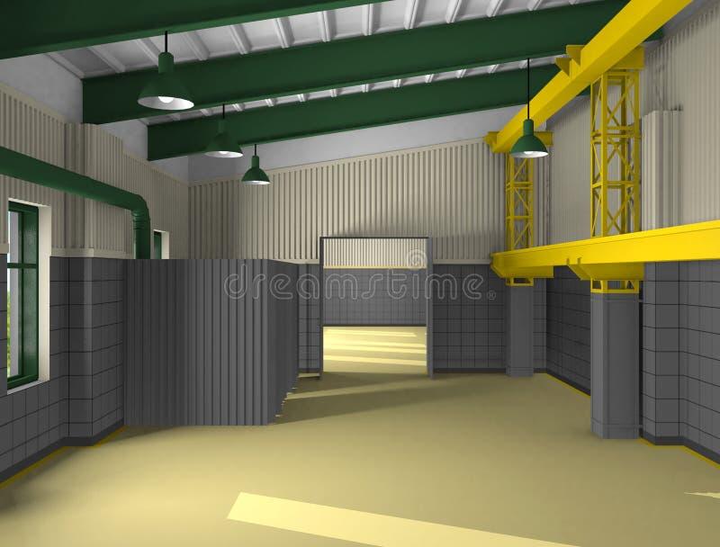 crossbar przemysłowe metall strefy royalty ilustracja