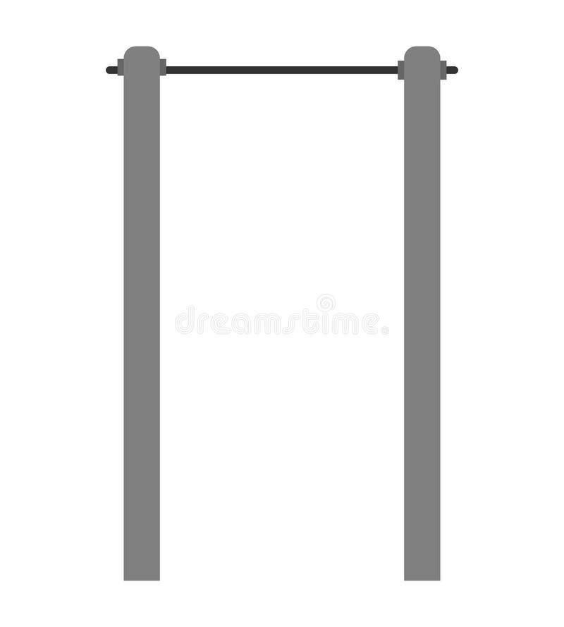 Crossbar w górę dla odosobnionego Horyzontalny bar również zwrócić corel ilustracji wektora ilustracja wektor