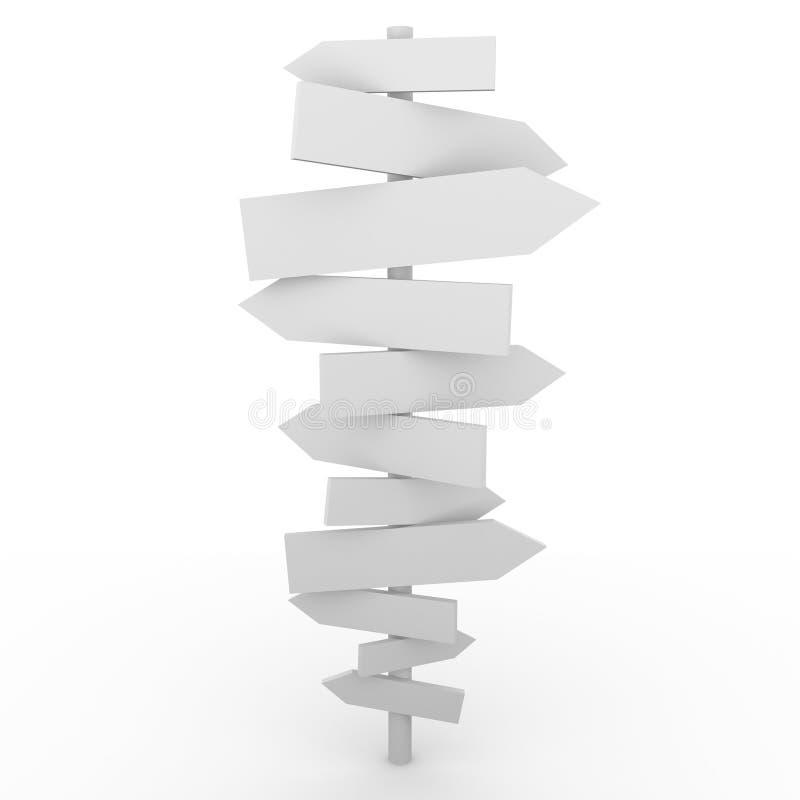 Download Crossboard stock illustration. Image of doubt, dilemma - 16829372