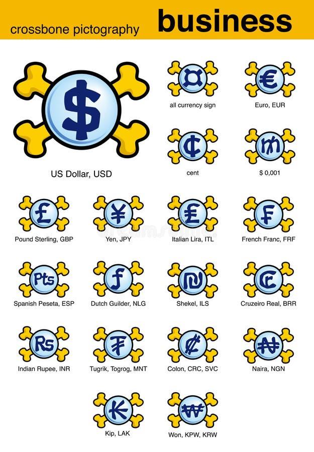 crossbone piktografia jednostek gospodarczych ilustracji